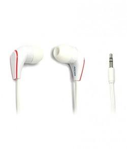 Adcom Earphones with Big Bass Treble Clarity In-Ear Headphone (White)