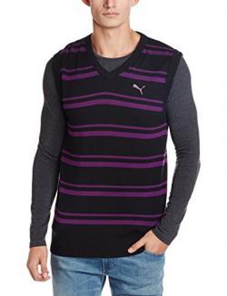 Puma Men's Cotton Sweater (4053985467470)_S_Black with Purple