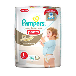 Pampers New Premium Care Large Size Diaper Pants (20 Count)
