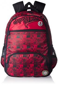 Spiderman Nylon Red School Bag (Age group :8 yrs +)