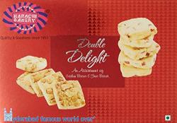 Karachi Bakery Double Delight Fruit Biscuit with Cashew, 400g