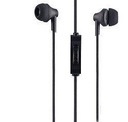 Sound One 616 In Ear Earphones with MIC , 3.5 mm Jack ,Extra Bass with Carry Case & Pouch Compatible with All Android ,IOS Smartphone/Cellphones/Mobiles (Black)