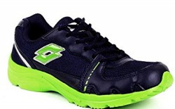 Lotto Men's Tracker Navy and Lime Green Mesh Running Shoes - 6 UK/India (40 EU)