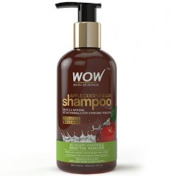 Live at 1pm WOW Apple Cider Vinegar Shampoo - 300 mL - No Sulphate - No Parabens - Infused Organic Natural Apple Cider Vinegar