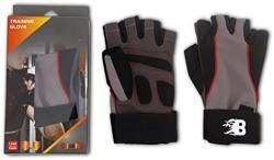 Burn Training Gloves, X-Large (Black/Brown)