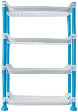 Haixing Plastic 4 Layer Rack, Multicolour