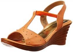 Bata  Women's Metallic Orange Fashion Sandals - 6 UK/India (39 EU) (7613651)