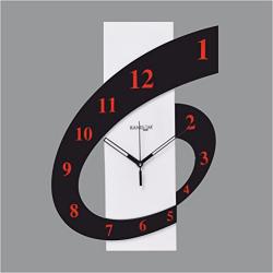 Random Clocks Rectangle High Grade Polymer Wall Clock (30 cm x 25 cm x 5 cm)