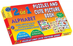 Sterling 2 in 1 Puzzles and Cute Picture Book Alphabet , Multi Color