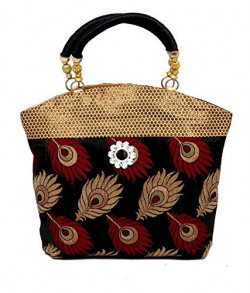 SHVAS - Peacock themed Womens Handbag (Black)