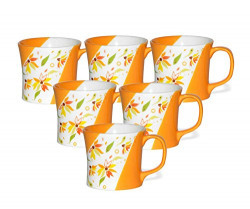Clay Craft ZO11 Coffee Mug Set, 150ml/5.5cm, Set of 6, Multicolour