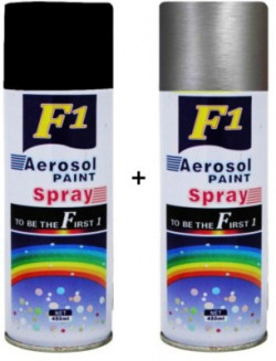 F1 Black & silver Spray Paint 450 ml