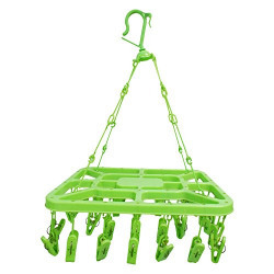 Metroproducts 32 Clip Laundry Clothesline Hanging Rack for Drying Clothing (Colour May Vary ) by Glitter Collection DHNG