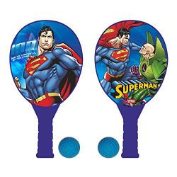 Warner Bros Superman Plastic Racket Set, Multi Color