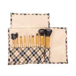 Puna Store® 9 Piece Makeup Brush Set (Beige)