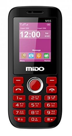 Mido M-55 Basic Phone (Black Red)
