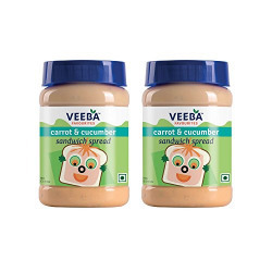 Veeba Carrot and Cucumber Sandwich Spread, 280g (Pack of 2)