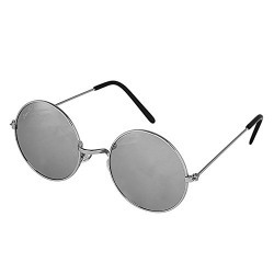 Silver Kartz Silver Mercury Silver Metal Round Shiny Frame Round Sunglasses (wc127)