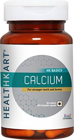 HealthKart Calcium unique combination of calcium with Vitamin D3- for complete bone health, 60 capsules