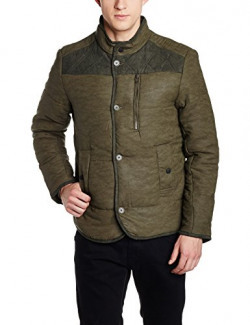Flying Machine Men's Polyester Jacket (8907259210933_FMJK0479_Small_Brown)