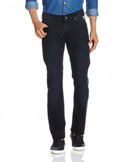 Pepe Jeans London Men's Slim Fit Jeans (8907557176399_PIMD100110_30W x 34L_Used Blk)