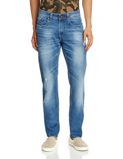Peter England Men's Casual Trousers (8907495286099_JDN51606148_86_Dark Blue with Blue)