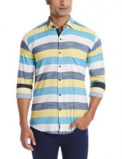 Dennison Men's Casual Shirt (SS-16-371_42_Multicolor)