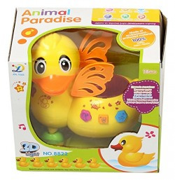 Sonic Animal Paradise Cartoon Duck with 3D Light and Sound, Yellow
