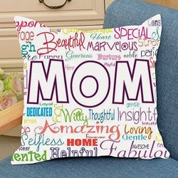 Aart Printed Cushion Cover with filler Cushion for Mother, Mothers Day Gifts, Mothers Day Present, Cute Mother Day Gift, Unique Mother Day, Mothers Day Gift Online, Send Mothers Day Gifts