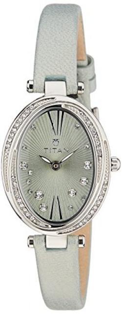 Titan Spring Summer'15 Analog Green Dial Women's Watch-95025SL03J