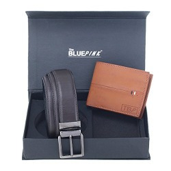 Dussledorf Rich PU Leather Wallet And Belt Combo (Tan,Brown)(WD08-BR0202)