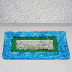 Story@Home Blue Diana 1 Pc Door or Bath Mat