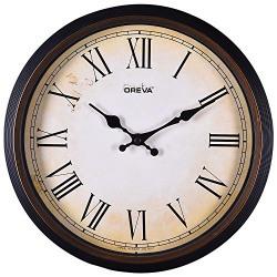 Ajanta Quartz Limited Edition Round Plastic Wall Clock (30.5 cm x 4 cm x 30.5 cm, Copper)