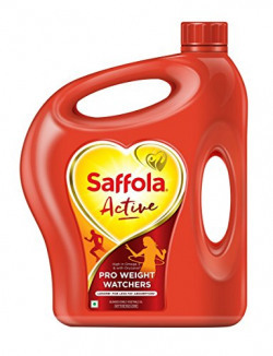 Saffola Active Edible Oil - 5 lit Jar