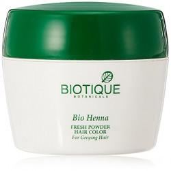 Biotique Henna Fresh Powder Hair Colour for Dark Hair, 90g