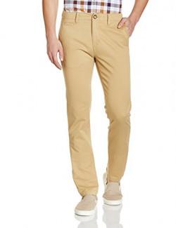 US Polo Association Men's Casual Trousers (8907378962119_USTR6510_Khaki_38W x 34L)