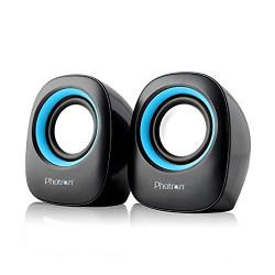 Photron MINI 2.0 Channel PC Speakers (Black/Blue)