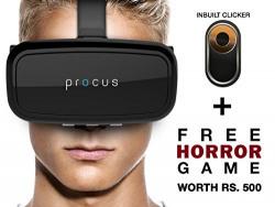 Procus ONE Virtual Reality Headset - 42MM Lenses- Fully Adjustable VR Glasses ,Black