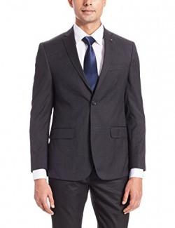 Louis Philippe Men's Regular Fit Blazer (8907239957131_LPBZ1M00756_92_Dark Grey Solid)