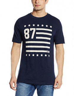 Aéropostale Men's T-Shirt (AE08581404_X-Small_Heritage Navy_10001158)