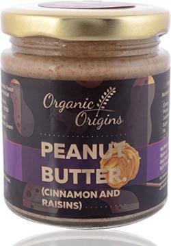 Organic Origins, Organic Peanut Butter (Cinnamons and Raisins), 200 grams