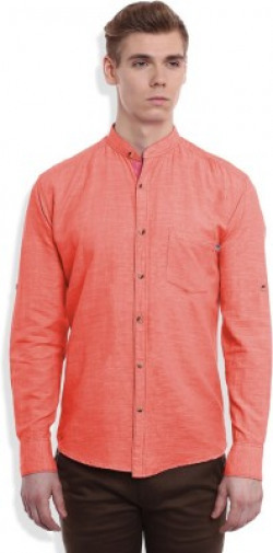 GHPC Men's Solid Casual Red Shirt