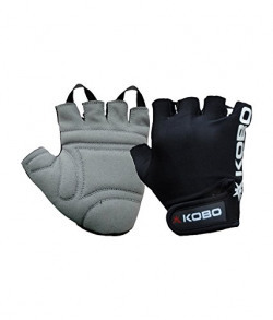 Kobo WTG-05 Leather Gym Gloves, Large (Black)