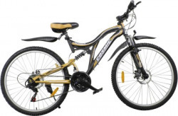 COSMIC VOYAGER 21 SPEED MTB BICYCLE BLACK/GOLD-PREMIUM EDITION 26 T 21 Speed Hybrid Cycle