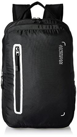 American Tourister Polyester 27 Ltrs Black Laptop Backpack (AMT BOP2017 LAPTOP BKPK4-BLACK)