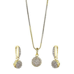YouBella Jewellery Valentine Collection Green Pendant set with Dangle & Drop Earrings for Girls
