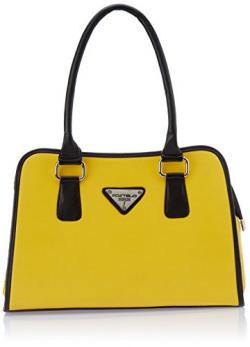 Fostelo Women's Downtown Shoulder Bag (Yellow) (FSB-337)