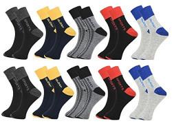 Krystle Men's Flat Knit Quarter Ankle Socks pack of 10