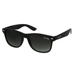 Silver Kartz Double-Gradient Matt Black Authentic Wayfarer Sunglasses (wc002)