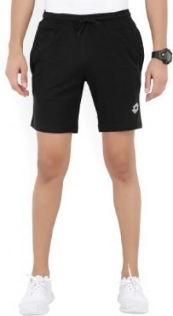 Lotto Solid Men's Black Sports Shorts